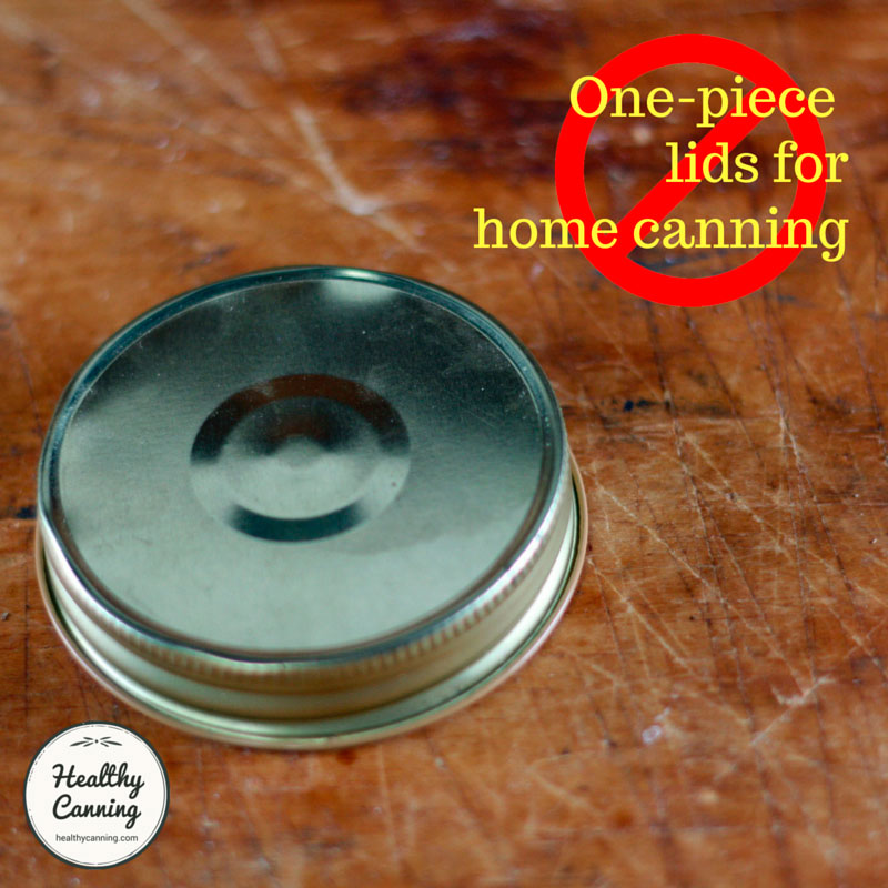 One-piece lids for home canning