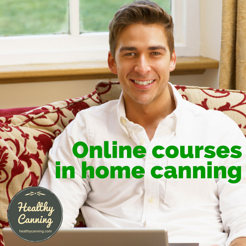 Online courses in home canning