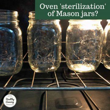 Mason jars in oven