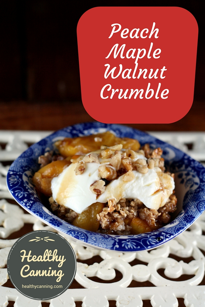 Peach Maple Walnut Crumble 2001