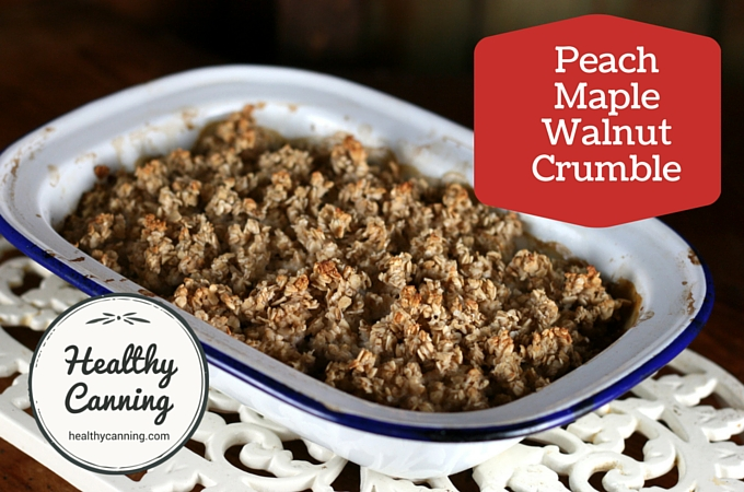 Peach Maple Walnut Crumble 2006