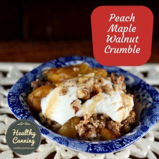 Peach Maple Walnut Crumble