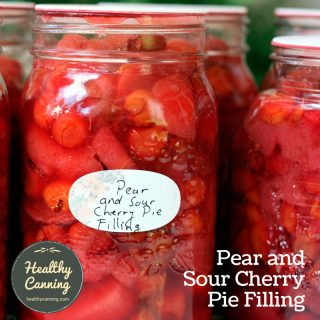 Pear-and-Sour Cherry Pie Filling
