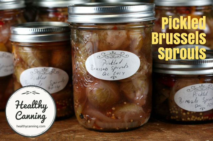 Pickled Brussels Sprouts - Healthy Canning
