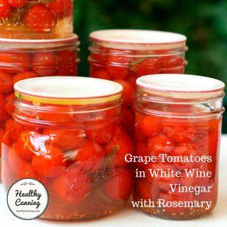 Grape Tomatoes in White Wine Vinegar with Rosemary