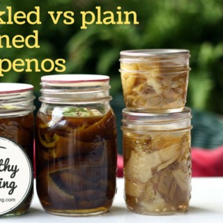 Jalapeno peppers: plain versus pickled