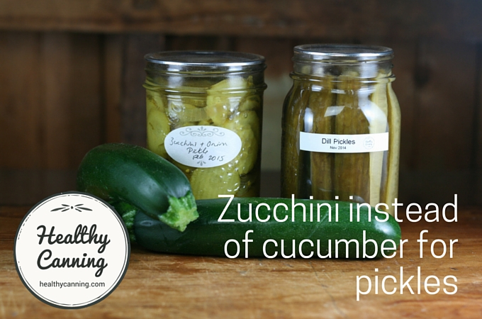 Making pickles with zucchini / courgettes