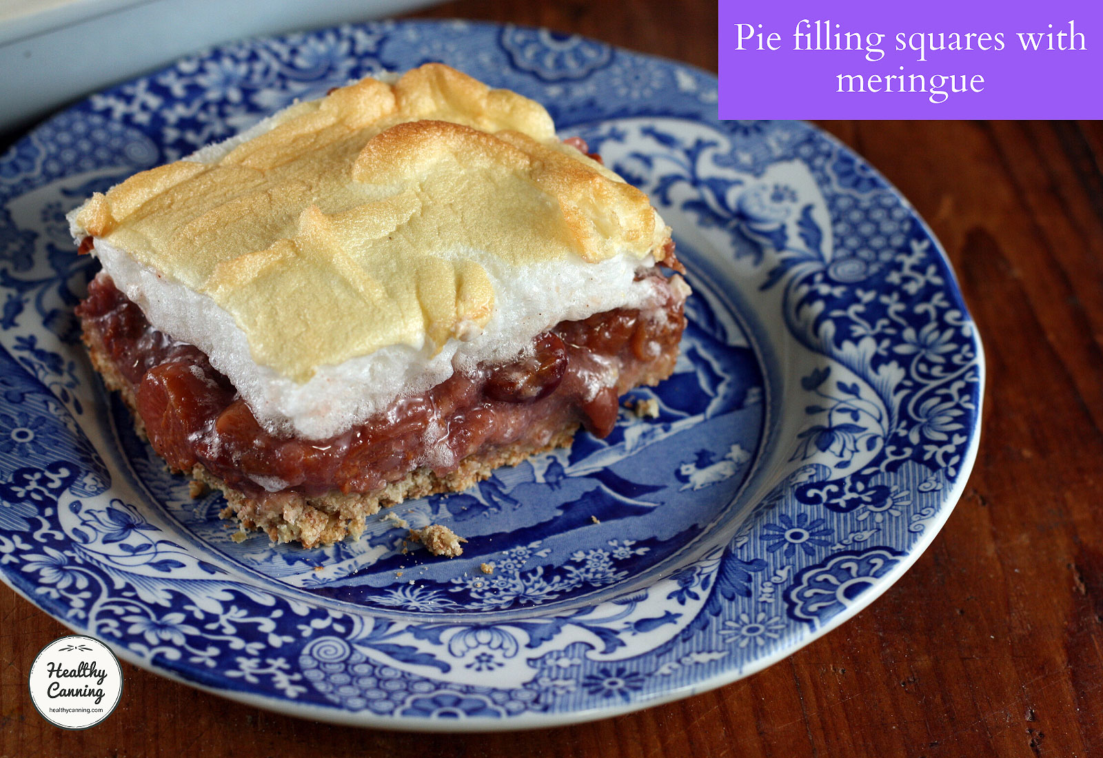 Photo of Pie filling squares with meringue
