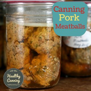 Canning pork meatballs