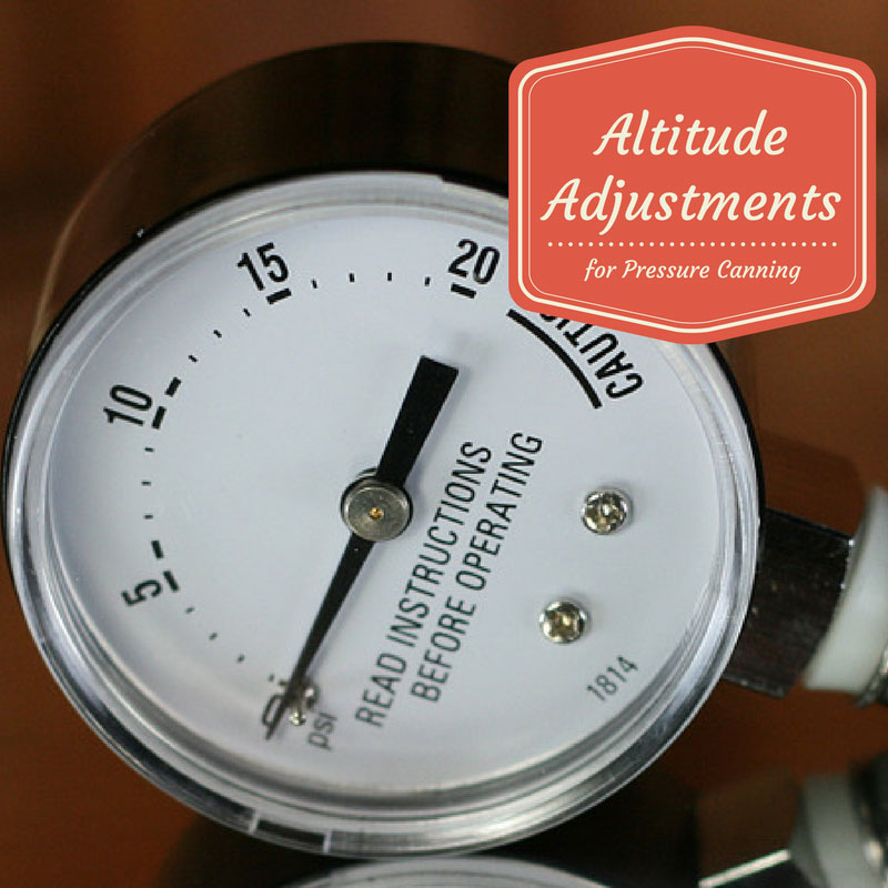 Pressure Canner Altitude Adjustments