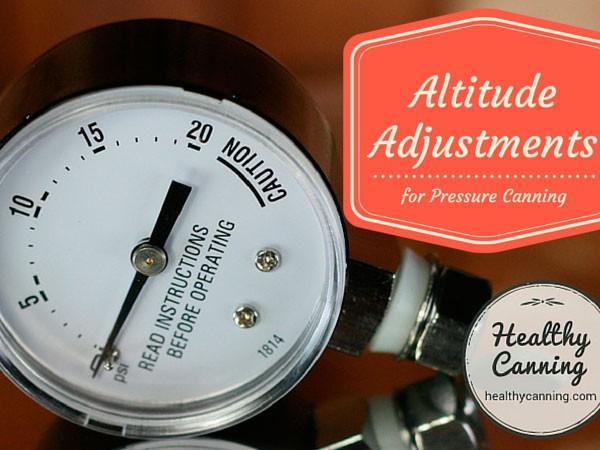 Pressure Canner Altitude Adjustments