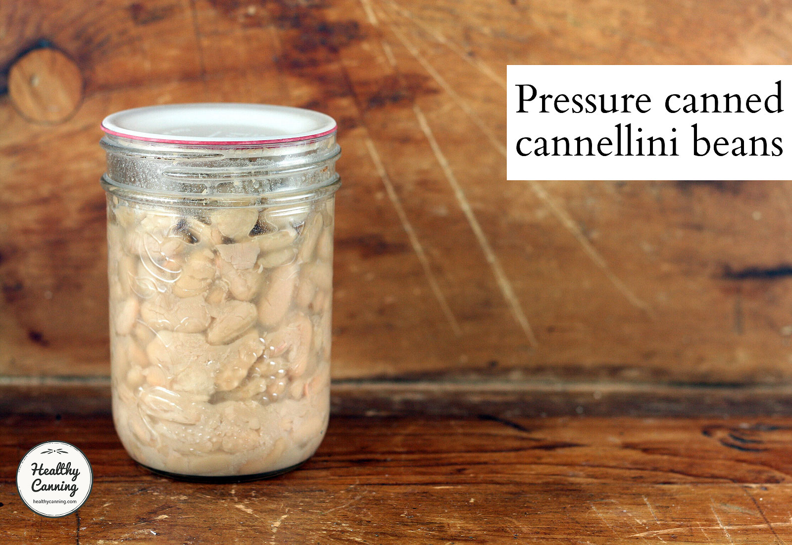 Pressure canned cannellini beans