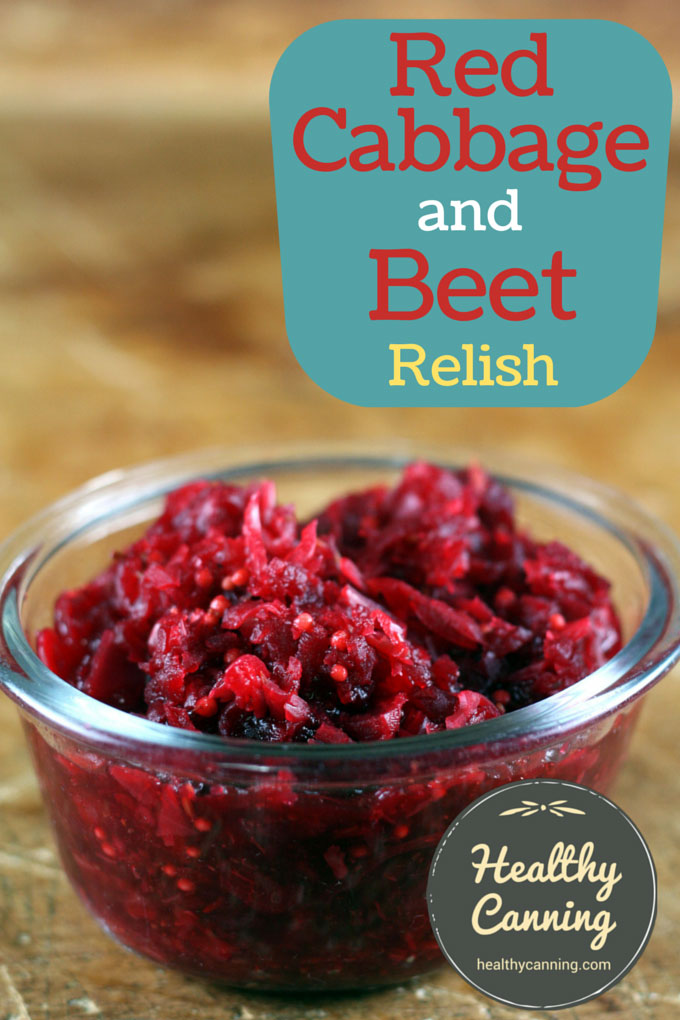Red cabbage and beet relish 001