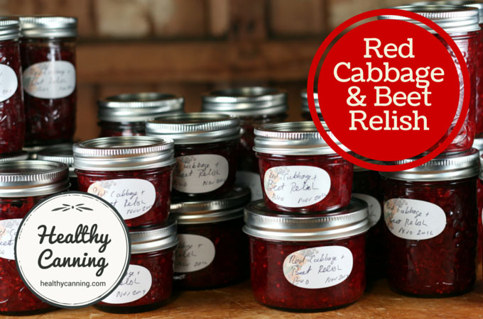 Red cabbage and beet relish 004