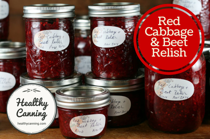 Red cabbage and beet relish 005