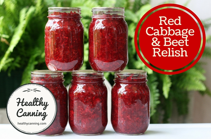 Red cabbage and beet relish 008