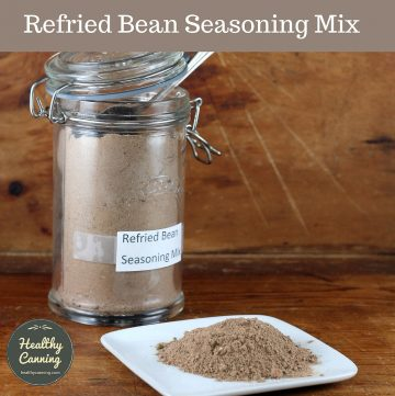 Refried bean seasoning mix