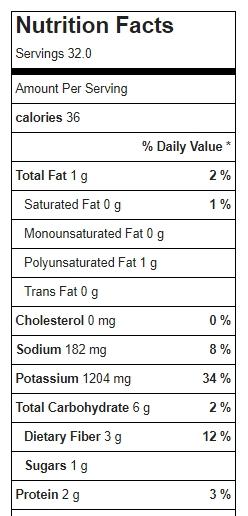 Refried Bean Seasoning Mix With Salt Sub Nutrition