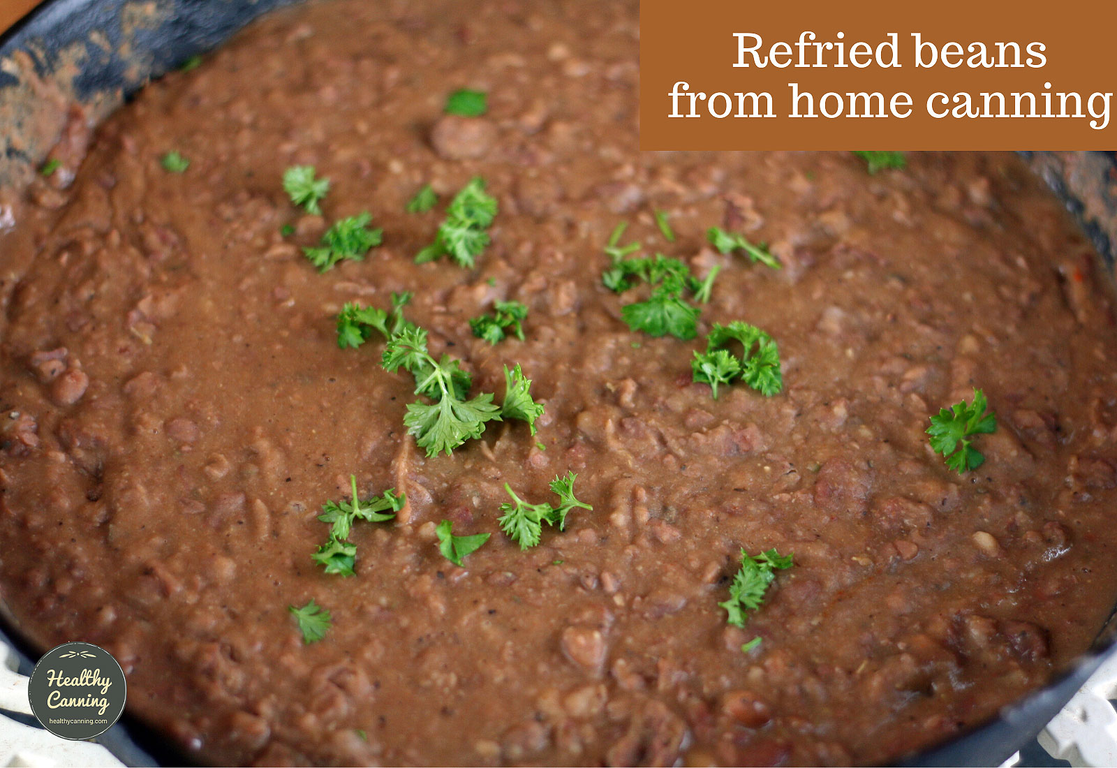 Refried beans from home canning
