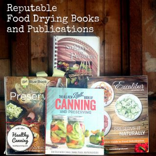 Reputable Food Drying Books and Publications