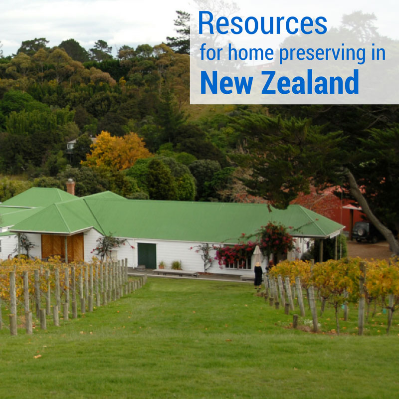 Resources for Home Preserving in New Zealand