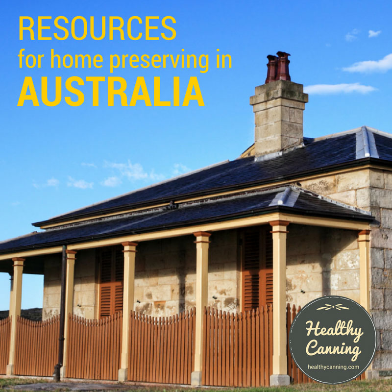 Resources for Home Preserving in Australia