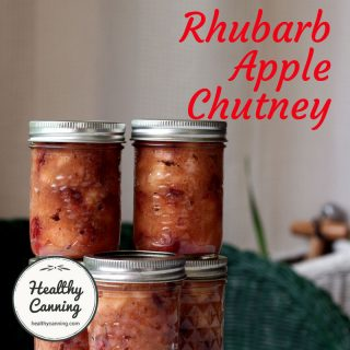 Rhubarb Apple Chutney