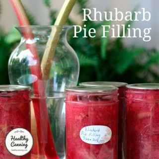 Canned Rhubarb Pie Filling