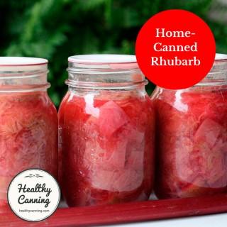 Canning Stewed Rhubarb