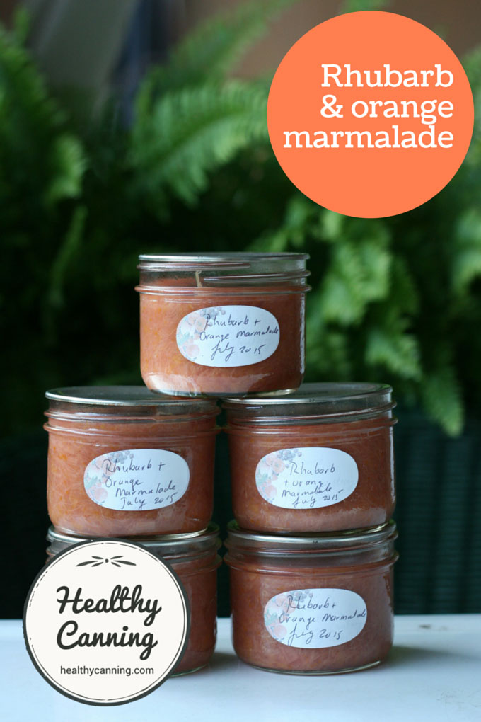 Rhubarb and orange marmalade 001