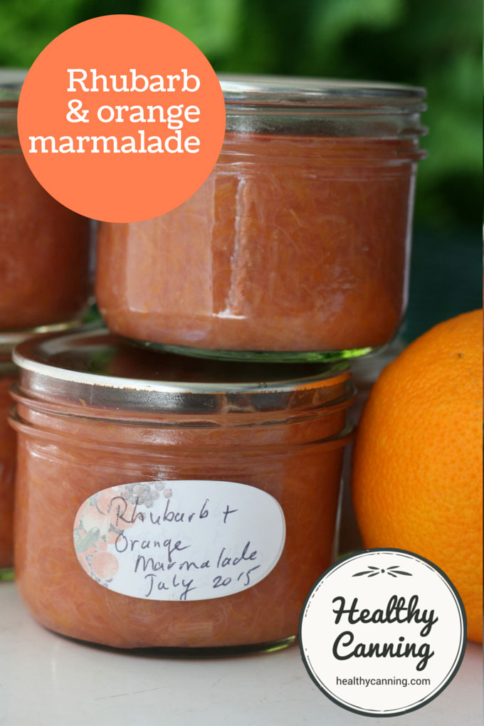 Rhubarb and orange marmalade 003