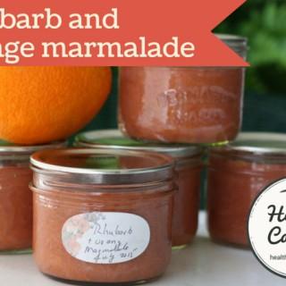 Rhubarb and Orange Marmalade
