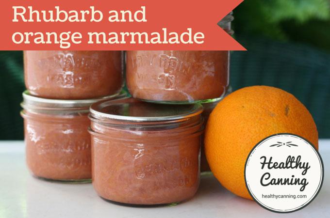 Rhubarb and orange marmalade 008