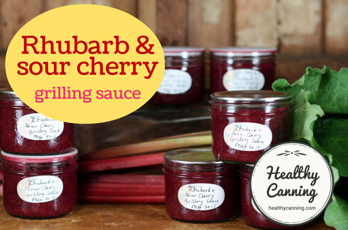 Rhubarb and sour cherry grilling sauce 007