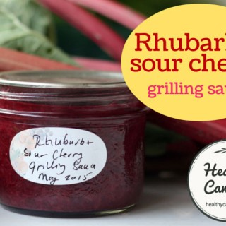 Rhubarb and Sour Cherry Grilling Sauce