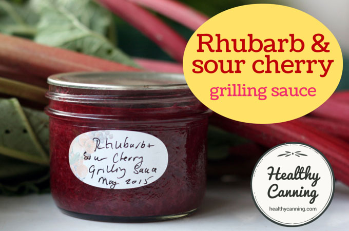 Rhubarb and sour cherry grilling sauce 009