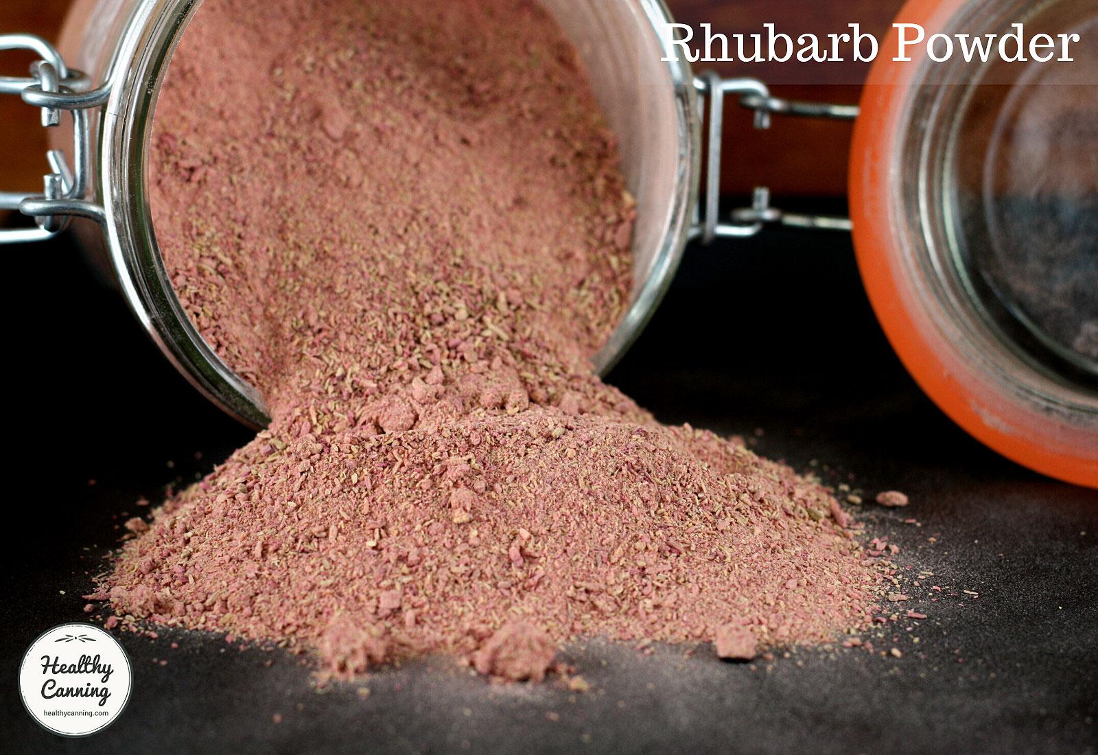 Rhubarb powder