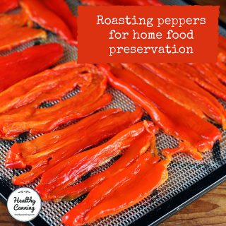 Roasting peppers for home food preservation