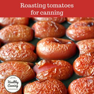Roasting tomatoes for canning