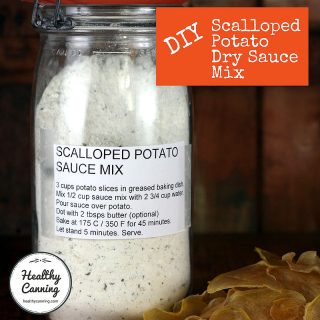 DIY Scalloped Potato Dry Sauce Mix