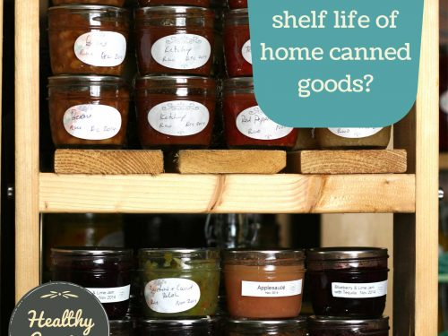 What is the shelf life of home canned goods?