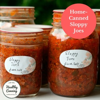 Home-canned Sloppy Joes