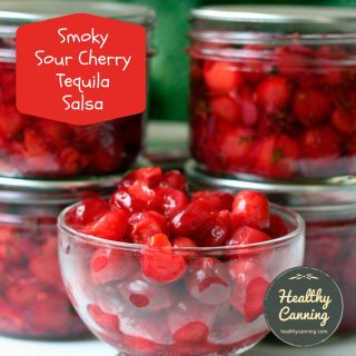 Smoky Sour Cherry Tequila Salsa