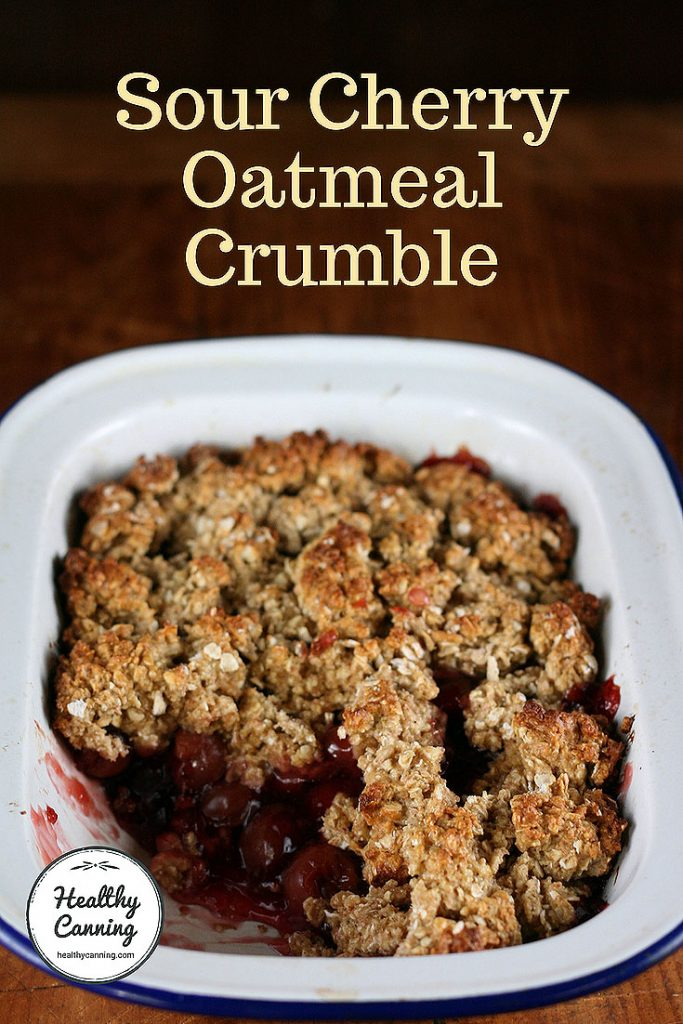 cherry oatmeal crumble