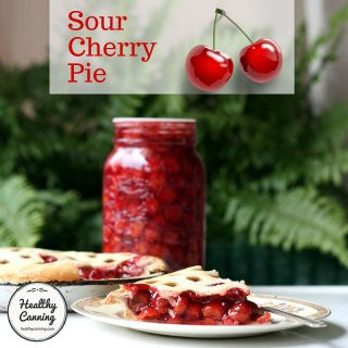 Sour cherry pie from home canned pie filling
