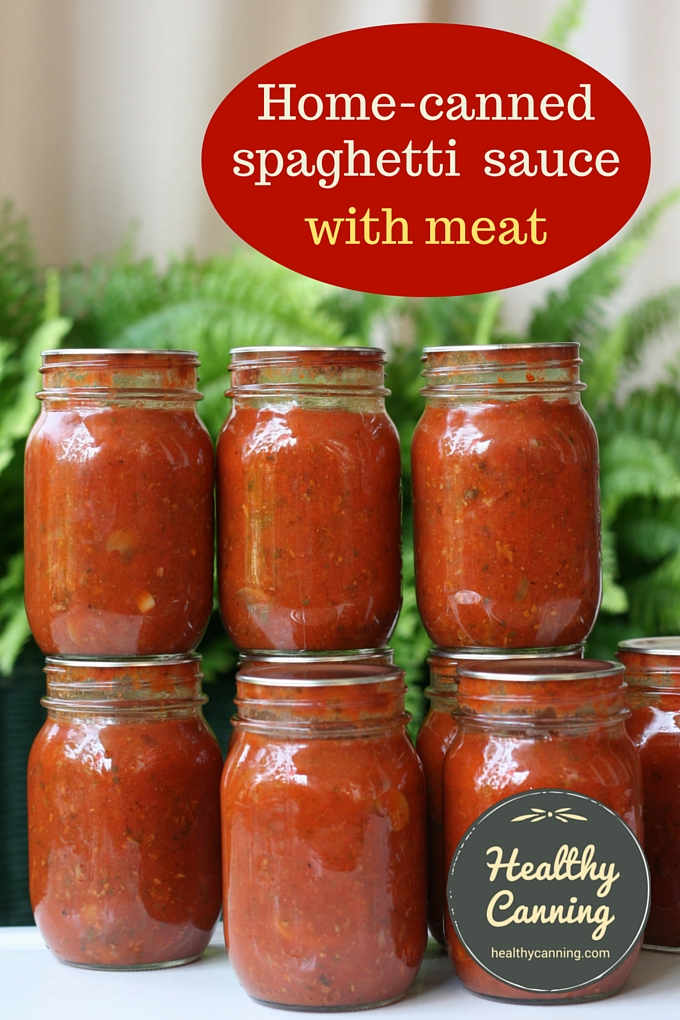 Spaghetti Sauce With Meat Healthy Canning