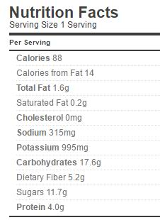 Spaghetti Sauce Nutrition Regular
