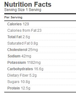 Spaghetti Sauce with Meat Nutrition
