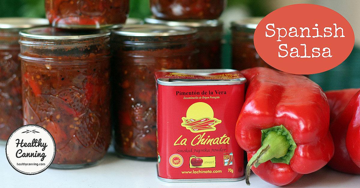 Spanish Salsa Healthy Canning
