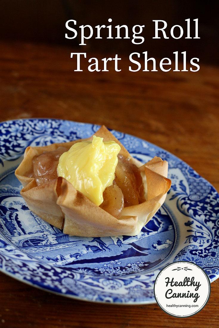 Spring roll tart shells
